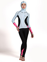 HISEA® Women's Wetsuits Breathable Anti-Eradiation Chinlon Diving Suit Long Sleeve Diving Suits-Swimming Diving Surfing SailingSpring
