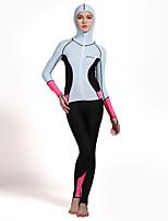 HISEA® Damen Neopren- Atmungsaktiv Anti-Ausrottung Chinlon Taucheranzug Langärmelige Tauchanzüge-Schwimmen Tauchen Surfen SegelnFrühling
