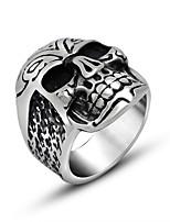 Кольцо Панк Титановая сталь Геометрической формы Серебряный Бижутерия Для Повседневные 1шт
