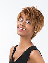 ätherische Leinen kurzes Haar Menschenhaar-Perücke für Frauen