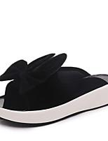 Slippers & Flip-Flops Summer Slingback Leatherette Dress Casual Low Heel Bowknot Walking