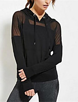 Damen Solide Einfach Niedlich Lässig/Alltäglich T-shirt,Mit Kapuze Frühling Sommer Langarm Polyester Mittel