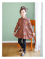 Girl's Casual/Daily Solid Dress,Bamboo Fiber Spring Fall Long Sleeve
