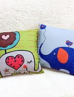 1 штук Лён Дорожные подушки Диван Подушка Оригинальные подушки Наволочки Подушки для тела,Анималистический принт Графические принты