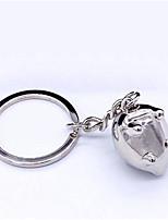 Key Chain Pig Key Chain Silver Metal