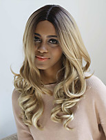 New Fashion High Quality Ombre Blonde Long Natural Volume Synthetic Wigs Hot Sale.