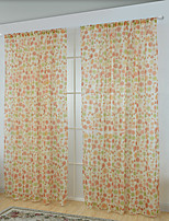 Jeden panel Window Léčba Neoklasika Evropský , Kostkovaný Ložnice Polyester Materiál Sheer Záclony Shades Home dekorace For Okno
