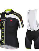 Cycling Jersey with Bib Tights Men's Unisex Short Sleeve Bike Breathable Thermal / Warm Quick Dry Ultraviolet ResistantJersey + Bib
