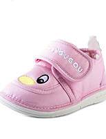 Kids' Baby Loafers & Slip-Ons First Walkers Fabric Spring Fall Casual First Walkers Flat Heel Ruby Blue Blushing Pink 1in-1 3/4in