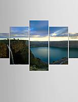 Фотографические отпечатки Пейзаж Modern Средиземноморье,5 панелей Холст Любая форма Печать Искусство Декор стены For Украшение дома