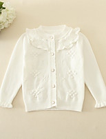 Casual/Daily Solid Blouse,Cotton Winter Spring Fall Long Sleeve Regular