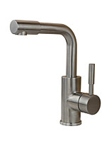Contemporary Antique Modern Standard Spout Vessel Rain Shower Widespread with  Ceramic Valve Single Handle One Hole for  Stainless Steel,