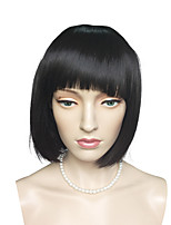 Top Quality Short Bob Wig Synthetic Fiber Wig Black Color Costume Cosplay Wig
