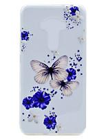 Für Transparent Muster Hülle Rückseitenabdeckung Hülle Schmetterling Weich TPU für AsusAsus ZenFone 3 (ZE552KL)(5.5) Asus Zenfone 3