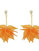 Серьги-слезки Базовый дизайн Сплав Белый Оранжевый Бижутерия Для Повседневные 1 пара