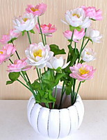 1 Branch Plastic Lotus Tabletop Flower Artificial Flowers 15*15*62