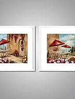 Отпечатки на холсте в рамах Абстракция Пейзаж Классика Реализм,2 панели Холст Квадратная Печать Искусство Декор стены For Украшение дома