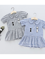 Girl's Casual/Daily Striped Dress,Cotton Spring Long Sleeve