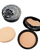 1Pcs Face Makeup Oil Control Concealer Smooth Dry Pressed Powder 6 Color Bronzers Whitening Finishing Powder Setting Lasting