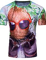 Tee-shirt Homme,Géométrique Sortie Habillées simple Actif Eté Manches Courtes Col Arrondi Coton Moyen