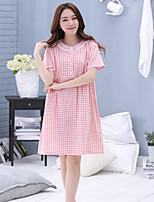 Damen Hemden & Kleider Nachtwäsche,Sexy einfarbig-Baumwolle Mittelmäßig Damen
