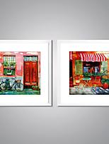 Pinturas com Molduras Abstrato Paisagem Moderno Realismo,2 Painéis Tela Quadrangular Impressão artística Decoração de Parede For
