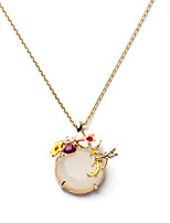 Women's Pendant Necklaces Crystal Drop Chrome Personalized Jewelry For Wedding Congratulations 1pc