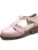 Women's Clogs & Mules Spring Summer Fall Comfort Light Soles PU Office & Career Dress Casual Low Heel Chunky Heel Block Heel BuckleWhite
