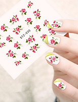 5pcs/set Fashion Flower Nail Art Sticker Romantic Pink Flower Nail Water Transfer Decals Sweet Style Nail Art Flower Design STZ-030