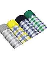 4Pcs/Lot Men's Fashion Sexy Plaid Print Boxers Underwear Cotton Modal Panties