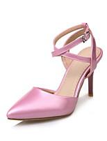 Mujer-Tacón Stiletto-Confort-Tacones-Vestido-Semicuero-Dorado Negro Plata Rosa