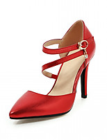 Women's Heels Spring Fall Comfort Leatherette Party & Evening Dress Casual Stiletto Heel Buckle
