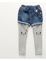 Girls' Casual/Daily Patchwork Pants Spring