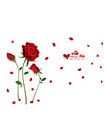 Wall Stickers Wall Decals Style Rose Flower PVC Wall Stickers