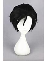 curta haikyuu !! - kuroo Tetsurou 12 polegadas black anime cosplay peruca cs-186i