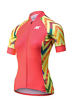 Mysenlan Cycling Jersey Women's Short Sleeve Bike Breathable Quick Dry Jersey Polyester Fashion Summer