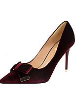Damen-High Heels-Büro Kleid-Kunstleder-Stöckelabsatz-Komfort-Grau Rot Grün Rosa Mandelfarben