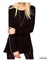 Hot Spot 2016 autumn AliExpress explosion models ladies long-sleeved T-shirt jacket zipper