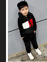 Boys' Casual/Daily Geometric Sets,Cotton Spring Long Sleeve Clothing Set