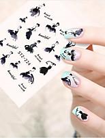 10pcs/set Hot Fashion Sweet Style Design Nail Art Sticker Beautiful Dancing Girl Design Beautiful Nail Art Water Transfer Decals Nail Beauty STZ-224