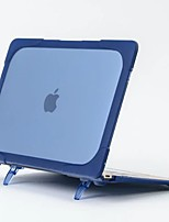For MacBook 12 Inch and Air 11.6 Inch Case Cover PC with Support Solid Color Contribute to Heat Dissipation Utility Function