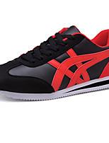 Белый Черный и золотой Черный/Красный-Для мужчин-Для прогулок Повседневный Для занятий спортом-Ткань-На плоской подошве-Удобная обувь