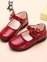 Mädchen-Flache Schuhe-Kleid Lässig-Leder-Flacher Absatz-Ballerina-Weiß Schwarz Rot Rosa