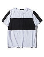 Slim Korean version of the big striped men's short-sleeved T-shirt Aberdeen Wind