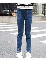 Pantalones Chica Casual/Diario Un Color AlgodónVerano Primavera Otoño