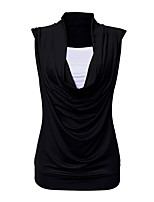 Women's Going out Casual/Daily Holiday Sexy Vintage Street chic Summer T-shirt,Solid Halter Sleeveless Cotton Opaque