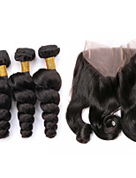 One Pack Solution Peruvian Texture Loose Wave 12 Months 4 Pieces hair weaves