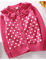 Casual/Daily Jacquard Sweater & Cardigan,Cotton Spring Fall Long Sleeve Regular
