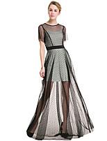 Для женщин Большие размеры Вечеринка/коктейль Праздник Уличный стиль Оболочка С летящей юбкой Платье Горошек Контрастных цветов Пэчворк,