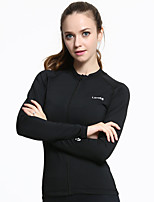 Women's Long Sleeve Running Tops Breathable Comfortable Spring Sports Wear Running Polyester Elastane Slim Classic Solid